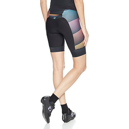 PEARL IZUMI Women's Elite Purs Graphic Tri Shorts, Diffuse Prism, Medium