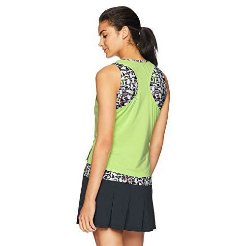 Bollé Pop Art Layered Tennis Tank, Pop Art Mojito, X-Large