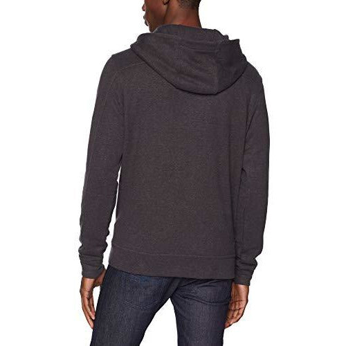 prAna Men's Trawler Hooded Henley Fleece Athletic Hoodies, Small, Charcoal Heather