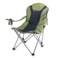 Oniva - A Picnic Time Brand Portable Reclining Camp Chair, Sage/Gray