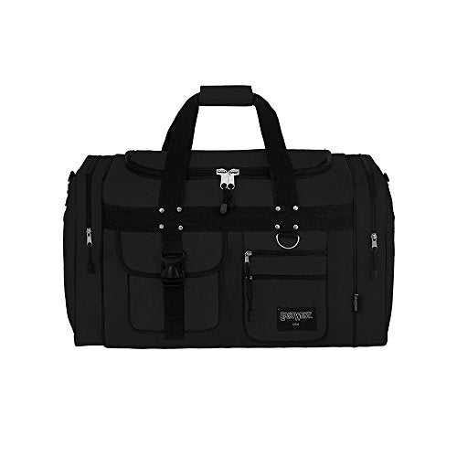 "East West U.S.A D1015 15"" Sports Duffle Gear Gym Travel Bag, Black"