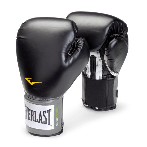 Everlast 1200014 Pro Style Training Gloves (Black, 14 oz.)