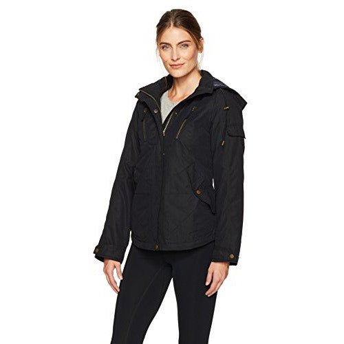 Arctix Women'S Olivia Ultra Lite Insulated Hooded Field Jacket, Black, X-Large
