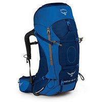 Osprey Packs Aether Ag 60 Men'S Backpacking Backpack, Neptune Blue, Sm, Small