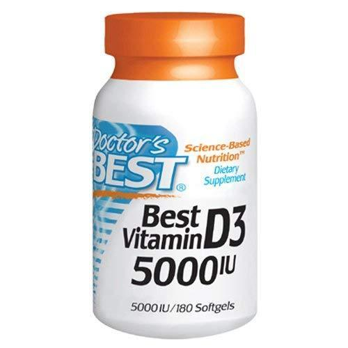 Doctor'S Best Vitamin D3 5000Iu Regulates Immune Function Supports Healthy Bones 180 Softgels