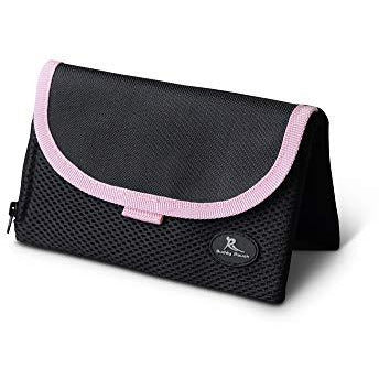 "Running Buddy Magnetic Buddy Pouch: Magnet Pocket Pouches for Cell Phones, iPhone & Other Gear - Beltless Runners Waist Bag for Running, Jogging, Hiking & Cycling (Pink, XL (6 3/4"" x 4""))"