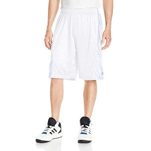Southpole Men'S Basic Basketball Mesh Shorts, White, Xx-Large