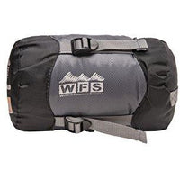 World Famous Sports Ultra Lite 40-50 Degree Sleeping Bag, Black/Grey