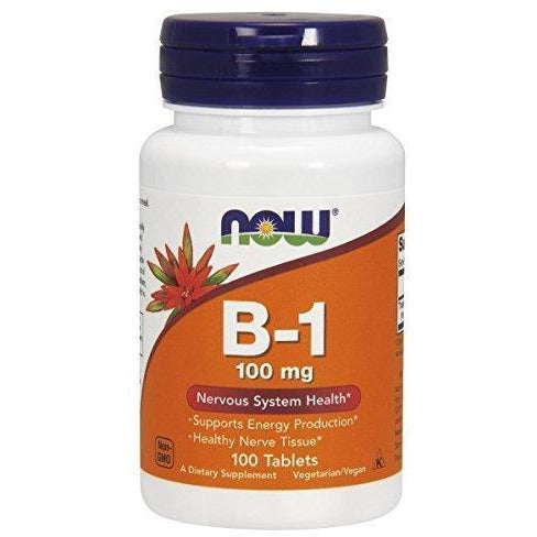 Now Foods Vitamin B-1 (Thiamine) 100 Mg,100 Tablets