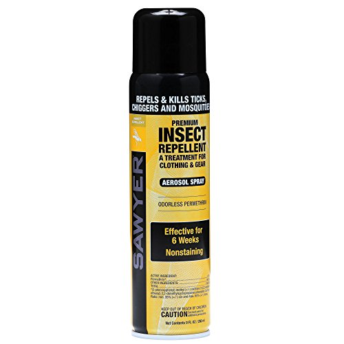 Sawyer Products SP602 Premium Permethrin Clothing Insect Repellent Aerosol Spray, 9-Ounce