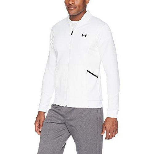 Under Armour Men's Forge Warm Up Jacket, White (100)/Steel, Small