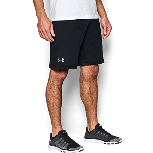 Under Armour Men'S Tech Terry Shorts, Black (001)/Silver, Xx-Large