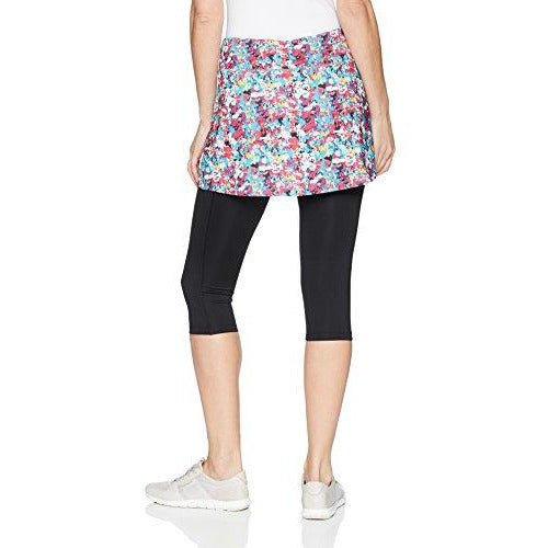 Skirt Sports Women's Lotta Breeze Capri Skirt, Holiday Print/Black, Small