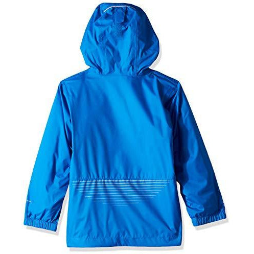 Columbia Boys Splash S'More Rain Jacket, Super Blue, Collegiate Navy, X-Large