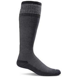 Sockwell Women's Elevation Firm Graduated Compression Socks, Black Solid Medium/Large