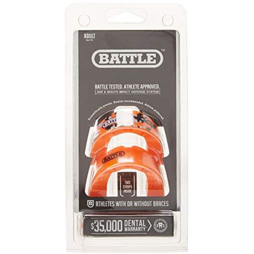 Battle Youth Mouth Guard (2 Pack), Orange Camo