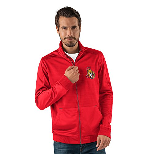 G-Iii Sports Nhl Ottawa Senators Men'S Progression Full Zip Track Jacket, X-Large, Red
