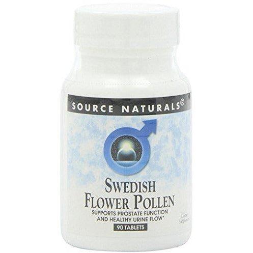 Source Naturals Swedish Flower Pollen Extract Supplement - 90 Tablets (Pack Of 2)