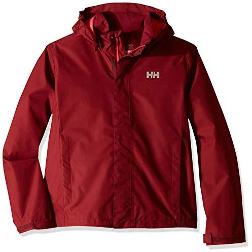 Helly Hansen Juniors & Kids Seven J Jacket Waterproof Windproof Breathable Rain Coat Jacket, 146 Cabernet, Size 10