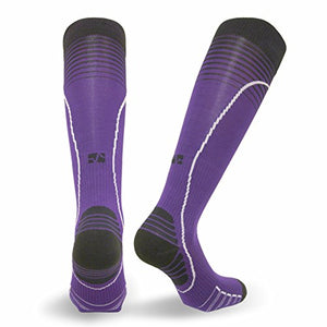 Vitalsox Italian Premium Patented Graduated Compression Silver Drystat Running Socks(1Pair-Compression), Purple, Small