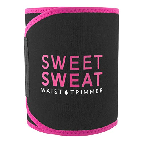 "Sweet Sweat Premium Waist Trimmer (Pink Logo) for Men & Women ~ Includes Free Sample of Sweet Sweat Gel! (Large: 9"" Width x 46"" Length)"