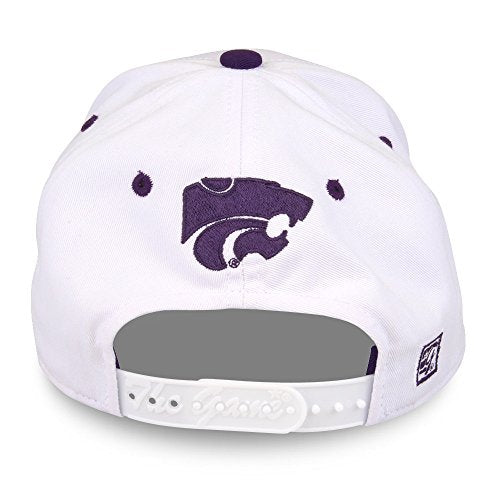 Ncaa Kansas State Wildcats Unisex Ncaa The Game Bar Design Hat, White, Adjustable