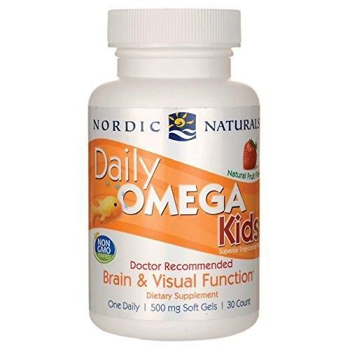 Nordic Naturals - Daily Omega Kids, Brain And Visual Function, 30 Soft Gels