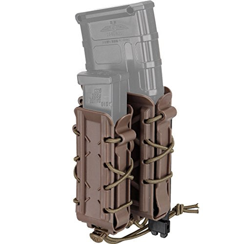 IDOGEAR Mag Pouch 5.56mm 7.62mm Rifle Magazine Pouches Molle Tactical Airsoft 9mm Pistol Magazine Holder Poly Mag Carrier Hunting Equipment Holder Set (C. Coyote Brown)