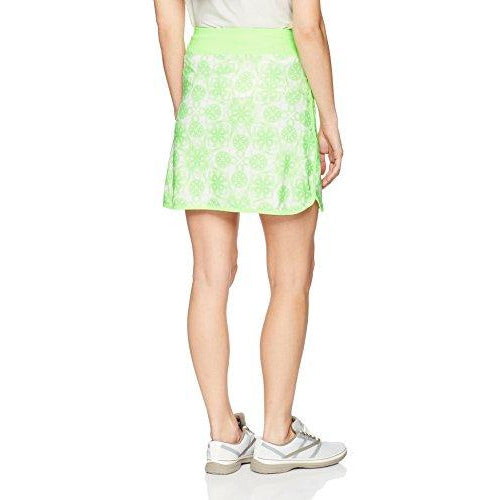 Annika by Cutter & Buck Women's Moisture Wicking Drytec 50+ UPF Print Pull-on Jersey Skort, Zip Atmosphere, X-Small
