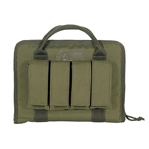VooDoo Tactical 25-0017004000 Pistol Case with Mag Pouches, OD, One Size