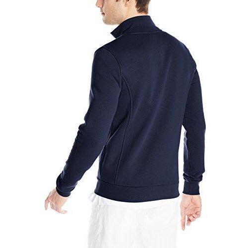 Lacoste Men's Sport Full Zip Fleece Sweatshirt, Navy Blue, XXX-Large