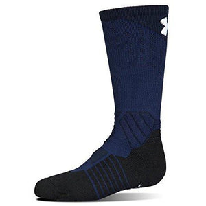 Under Armour Boy'S Drive Basketball Crew Single Pair, Midnight Navy/White, Youth Large