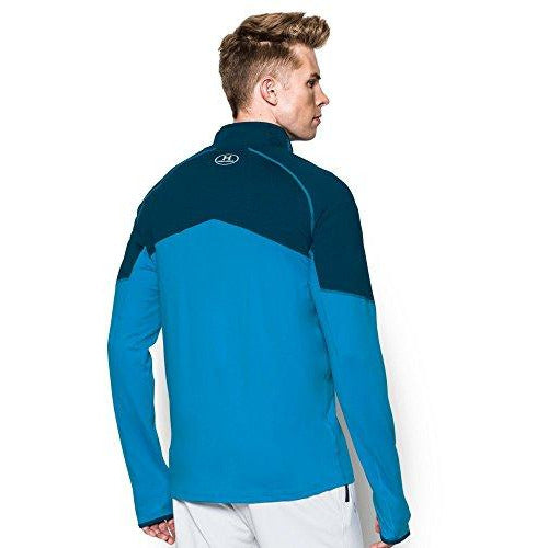 Under Armour Men's No Breaks Run 1/4 Zip, Brilliant Blue /Reflective, XX-Large