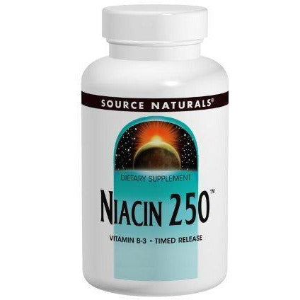 Source Naturals Niacin Vitamin B-3 250Mg Metabolic Support For Body Fuel Fat Conversion, Liver Function, Healthy Circulation And Maintains Low Cholesterol - Brain Boost And Energy - Skin Protection And Treatment - 100 Tablets