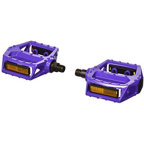 "Big Roc 57Pwp313P Pedal With Reflector (90X98Mm, 480G, Spindle 9/16"", Alloy Purple)"