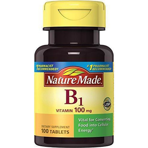 Nature Made Vitamin B1 (Thiamin) 100 Mg. Tablets 100 Ct