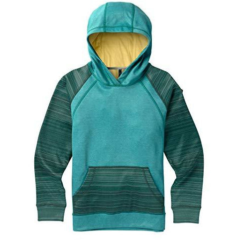 Burton Girls Crown Bonded Pullover Hoodie, Tahoe Heather/Tahoe Sunset Stripe, X-Large