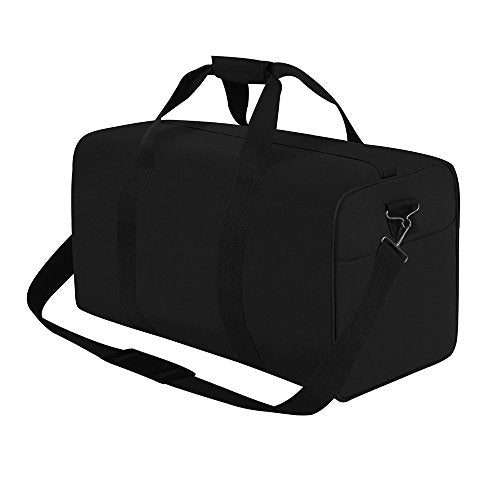"East West U.S.A D2024 24"" Sports Duffle Gear Gym Travel Bag, Black"
