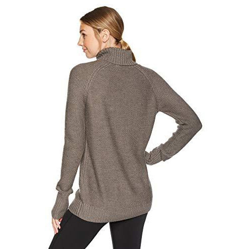 Icebreaker Merino Women's Waypoint Roll Neck Athletic Sweaters, Small, Toast Heather