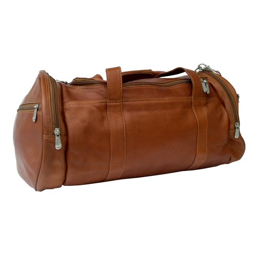 Piel Leather Gym Bag, Saddle, One Size
