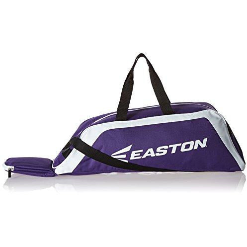 Easton E100T Youth Bat & Equipment Tote Bag | Baseball Softball | 2019 | Purple | 2 Bat Compartment | Main Gear Compartment | Fenc