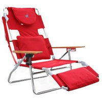 Ostrich Deluxe Padded Sport 3-In-1 Beach Chair, Red