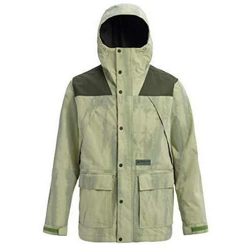 Burton Men's Cloudlifter Jacket, Large, Mosstone Distress/Forest Night
