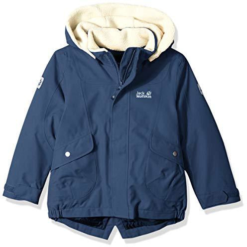 Jack Wolfskin Girl's Great Bear Waterproof Sherpa Insulated Jacket, Dark Sky, Size104(3-4)