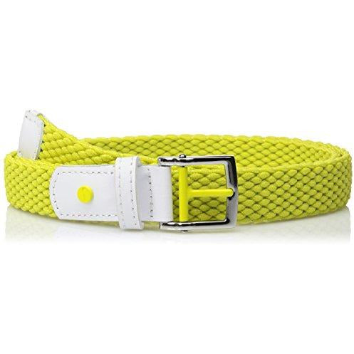 Nike Women's Stretch Woven Belt, ELECTRO LIME, M
