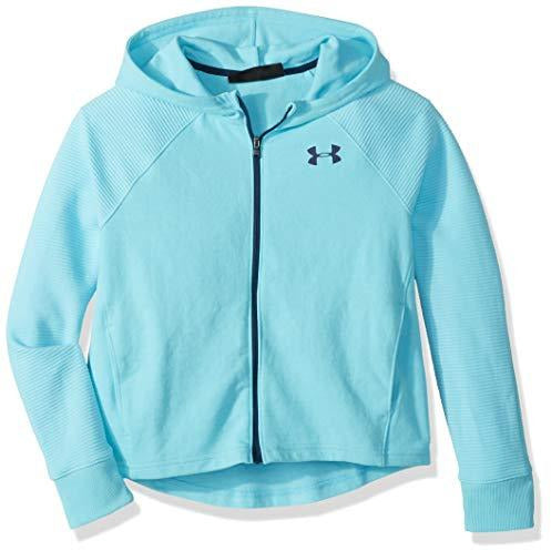 Under Armour Girls Finale Full Zip, Venetian Blue (448)/Academy, Youth X-Large