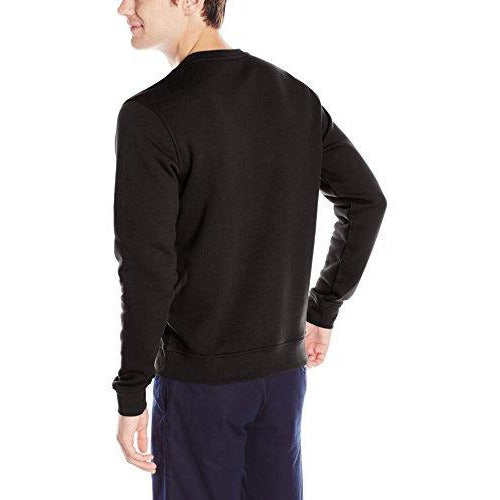 Lacoste Men's Brushed Fleece Crew Neck Sweatshirt, Black, X-Large