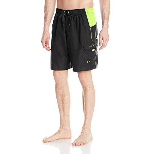 Speedo Men'S Sport Volley Shorts Workout & Swim Trunks, Black, S