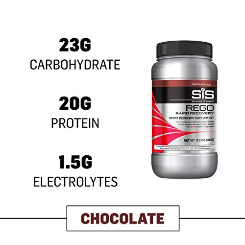 Science In Sport Rego Rapid Recovery Protein Shake Powder, Chocolate Flavor Post Workout Supplement Drink - 1.25 Lb