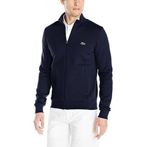Lacoste Men's Sport Full Zip Fleece Sweatshirt, Navy Blue, XX-Large